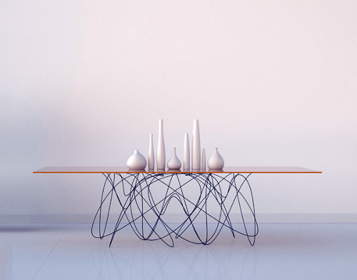 Quantum table, rencontre entre physique et design par Jason Phillips