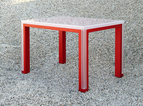 Table deux en un par Elda Bellone