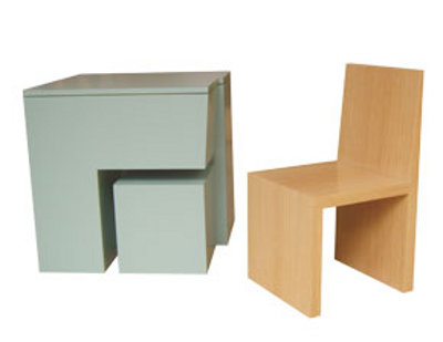 Box Chair / Child's Chair : Mobilier encastrable
