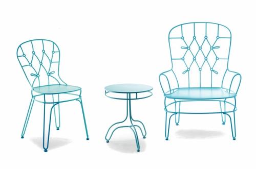 Tradition et fil de fer, mobilier outdoor par Alessandra Baldereschi