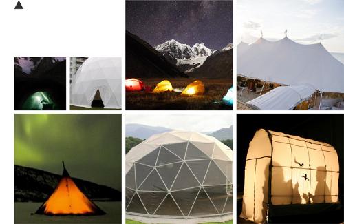 Structend, suspension inspiration camping par Cláudio Cigarro
