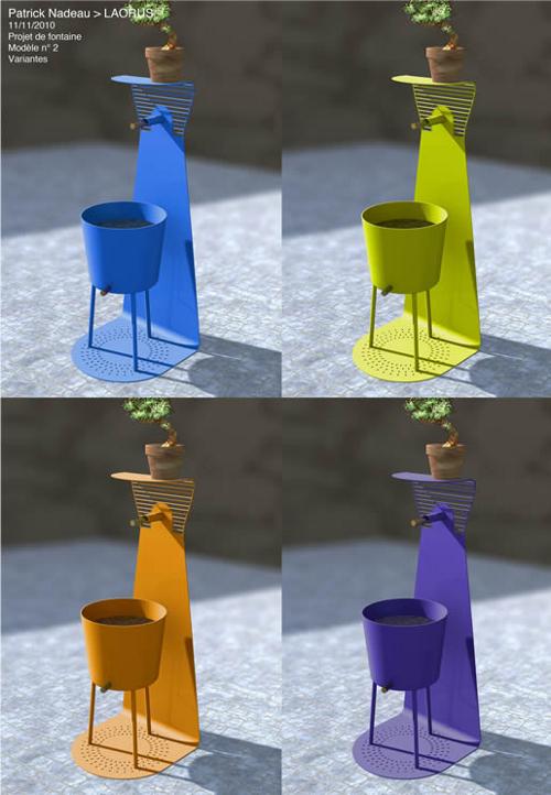 maison et objet 2011 fontaine outdoor par patrick nadeau. Black Bedroom Furniture Sets. Home Design Ideas