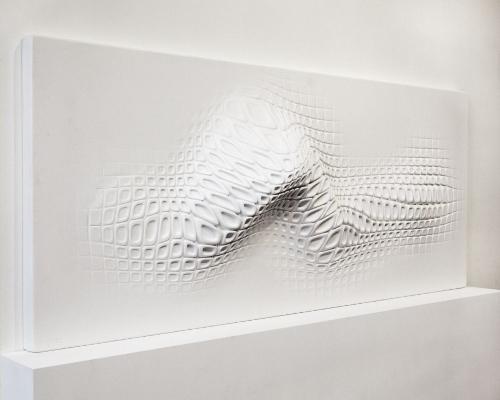 Sculpture murale par Ora-Ito pour Reebook
