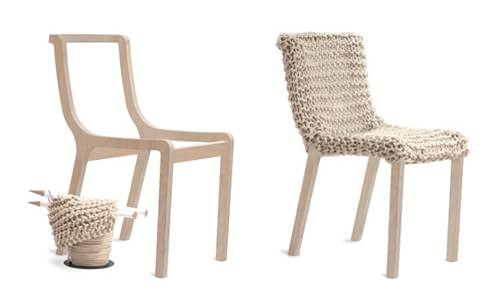 Paris Design Week 2011, chaise tricotée Granny Chair