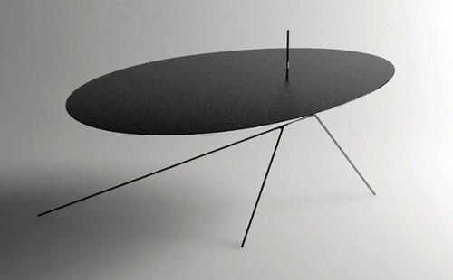 Table Chiuet, invisible de profile par Design-Jay