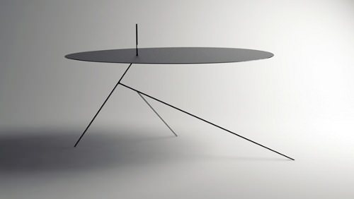Table Chiuet, invisible de profile par Design-Jay