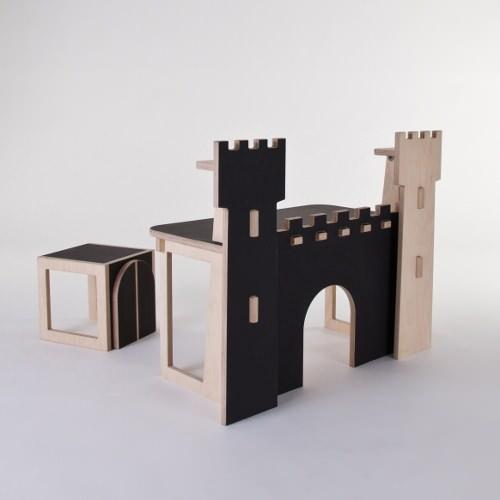 bureau pour enfant forteresse par le collectif at once blog esprit design. Black Bedroom Furniture Sets. Home Design Ideas