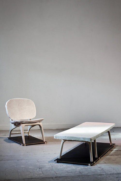 Collection UnPølished, papier + béton par Dik Scheeper
