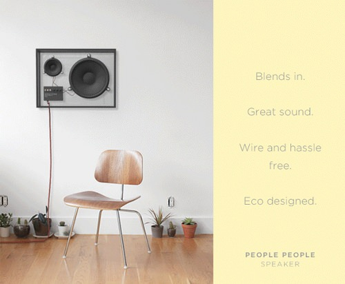 Enceinte rétro-minimaliste par People People
