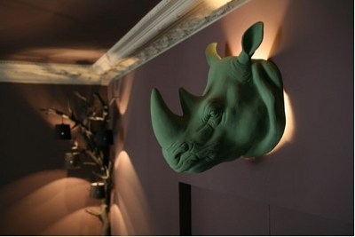 Tête d'animaux lumineuse pour vos murs