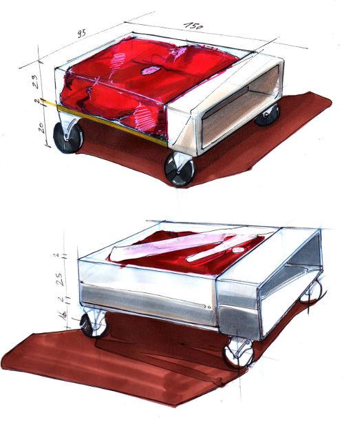 Crashed Ferrari Table par Molinelli Designs