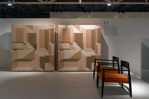 Salon Decoration Italie : Marqueterie moderne bahut inlay par front pour porro
