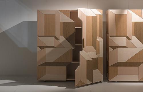 Marqueterie moderne, Bahut Inlay par Front pour Porro