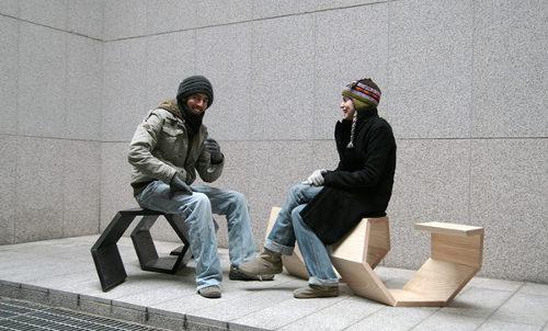 Screw it bench, le banc double par Neulhae Cho