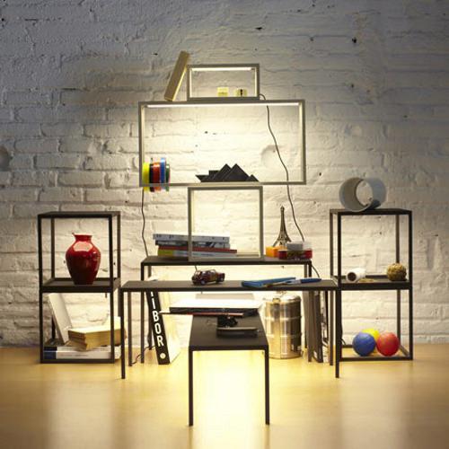 BlancoWhite tables empilables lumineuses par Antoni Arola