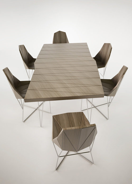 Collection TISA chaise et table par Branko Matic