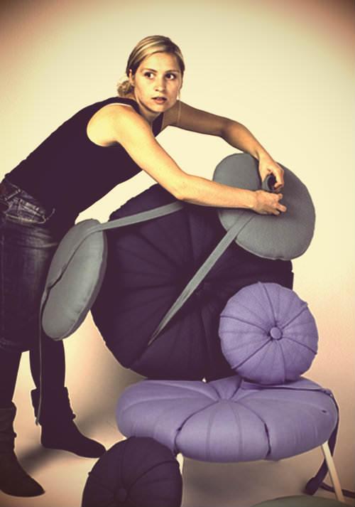 The Woonling Collection, fauteuil et transformation par Karoline Fesser