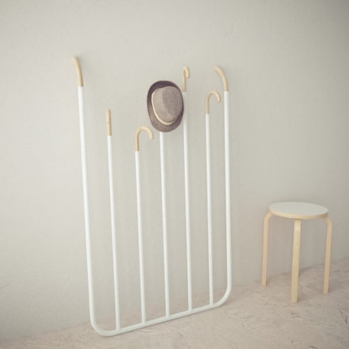 Hi bye le portemanteau par gauzak blog esprit design - Porte manteau fait maison ...