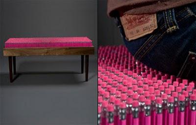 Pencil bench : Un banc d'écolier ?