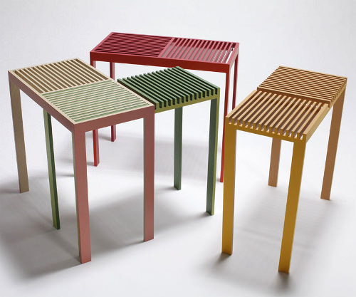 projet  u00e9tudiant table stack slit par hatsumi hirano
