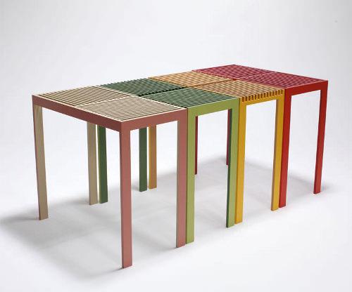 Projet étudiant Table Stack Slit par Hatsumi Hirano