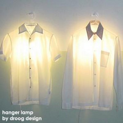 DROOG DESIGN : CLOTHES HANGER LAMP