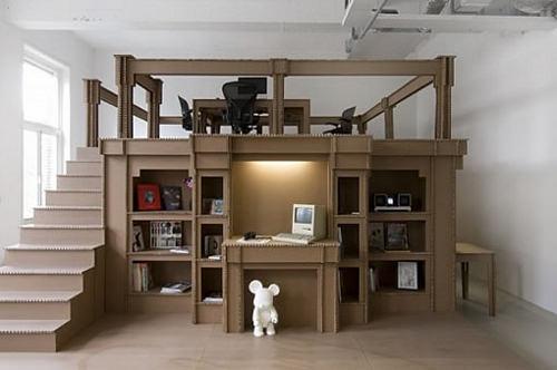 mon bureau tout en carton par alrik koudenburg blog esprit design. Black Bedroom Furniture Sets. Home Design Ideas