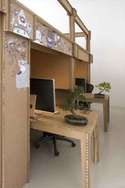 mon bureau tout en carton par alrik koudenburg blog esprit design. Black Bedroom Furniture Sets. Home Design Ideas