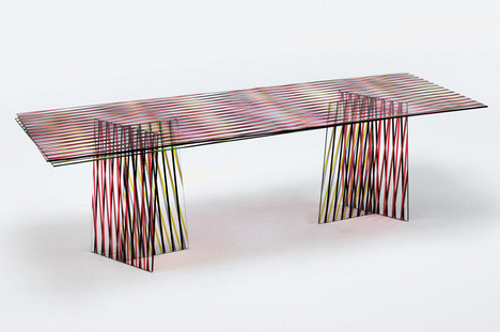 Table en verre crossing par patricia urquiola blog - Table italienne en verre ...