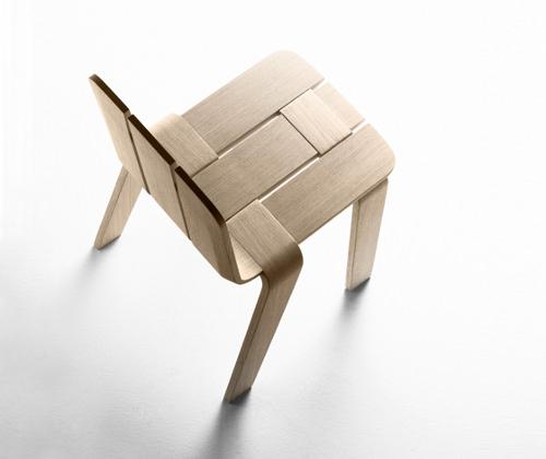 chaise bandes saski par jean louis iratzoki pour alki. Black Bedroom Furniture Sets. Home Design Ideas