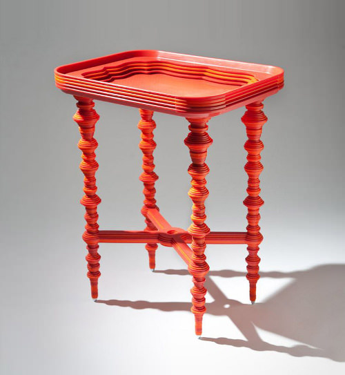 Tray Table la table d'ornement par Katie Stout