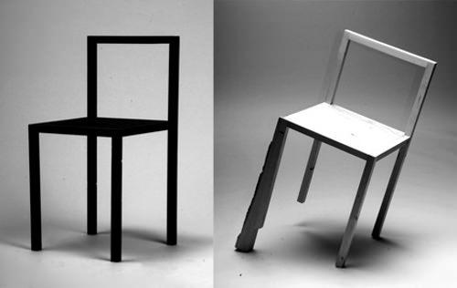 Aquarium Decoration Design : ° la chaise bancale par rasmus b fex esprit design