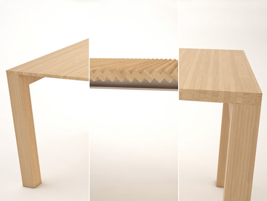 Table extensible dissimul e par julien vidame blog esprit design - Table rallonge design ...