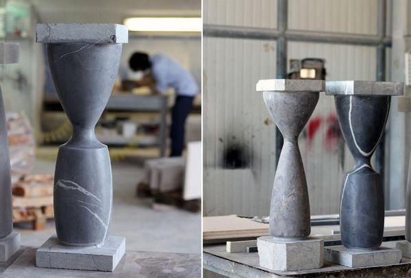 Stoneware les tables de pierre par GamFratesi