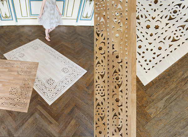 Tapis de bois ou vinyle par arzu firuz blog esprit design - Decoupe bois paris ...