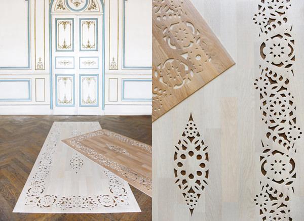 tapis de bois ou vinyle par arzu firuz blog esprit design. Black Bedroom Furniture Sets. Home Design Ideas