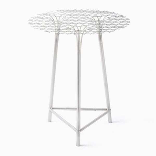 Collection bamboo steel le tissage m tallique par nendo for Table design japon