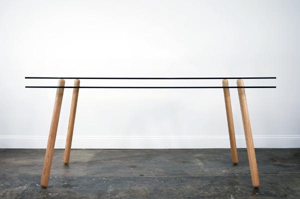 Dyvel table double plateaux de verre par silvabradshaw blog esprit design - Ordre des verres a table ...