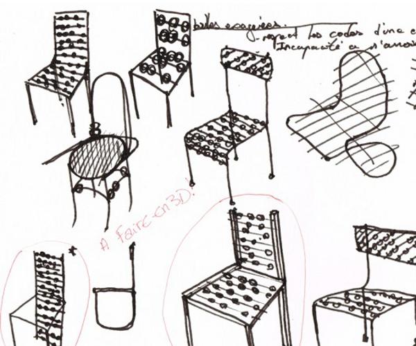 trendfusion blog esprit design projet tudiant ceci n est pas une chaise par l o abbate. Black Bedroom Furniture Sets. Home Design Ideas