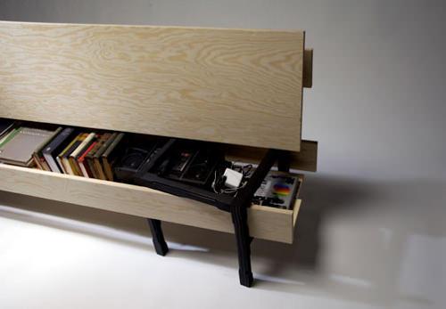 Slagbaenk simple banc par Rasmus B. Fex