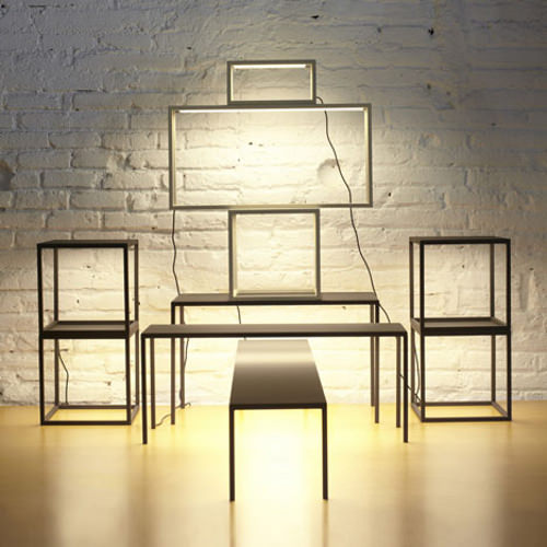 BLANCOWHITE TABLES EMPILABLES LUMINEUSES PAR ANTONI AROLA