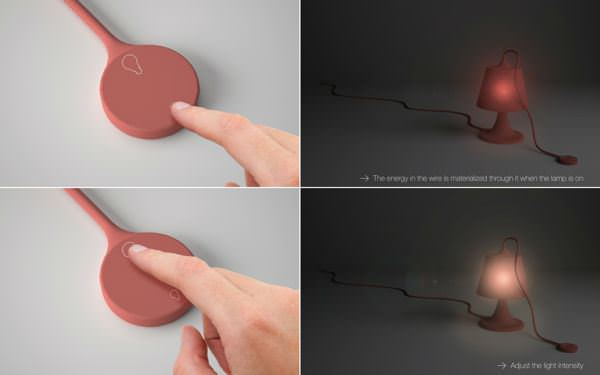 Mamba la lampe de silicone par Kevin Depape