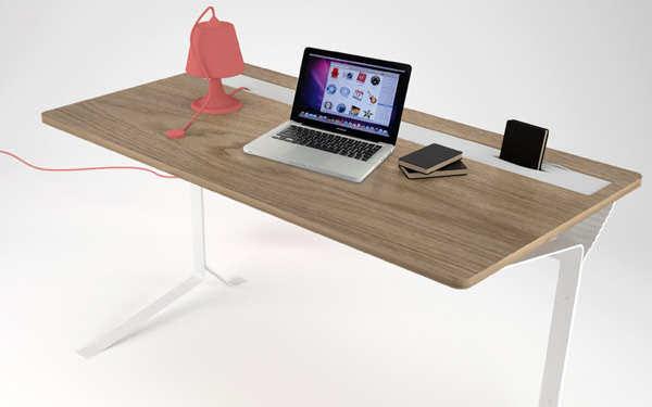 Bureau Elastik en silicone par Kevin Depape