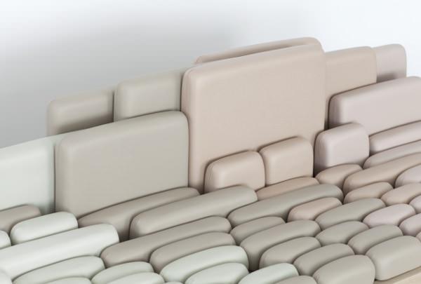 SofaScape le canapé à géométrie variable par Benjamin Graindorge