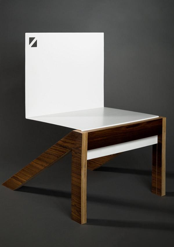 Triagonal la chaise par Markus Franke