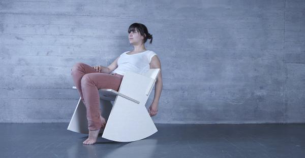 Rocker le rocking chair simplifié par Pinestone