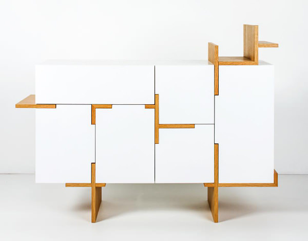 buffet ramifié par filip janssens - blog esprit design - Meuble Modulable Design