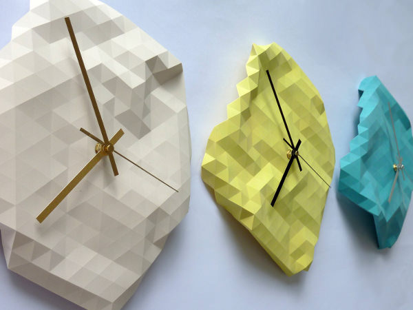 horloge origami par raw dezign blog esprit design. Black Bedroom Furniture Sets. Home Design Ideas