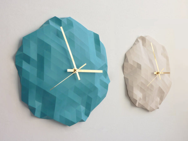 Horloge origami par raw dezign blog esprit design for Decoration murale origami