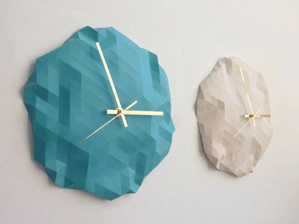 Horloge origami par raw dezign blog esprit design - Origami decoration murale ...